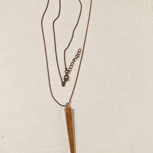 Jewelry - Brass Tone Spike Necklace
